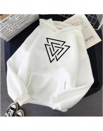 Unisex  Sweet Daily Hoodies Succinct Line&Geometric Pattern Streetwear
