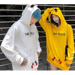 Veste StreetWear Pikachu Blanc/Jaune