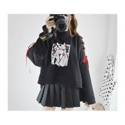 Sweat-Shirt Cats Anime noeud rouge