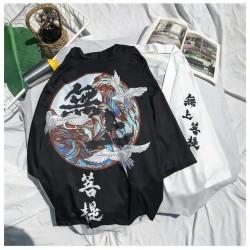 Kimono Japonais Streetwear Noir/Blanc