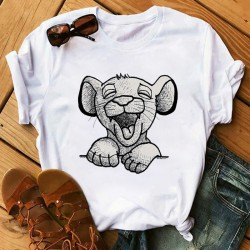 T-shirt roi lion Black and White
