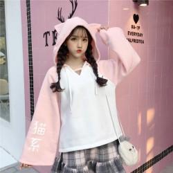 Sweat à capuche pour femme printemps mignon japonais