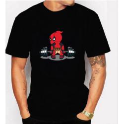 T-shirt Deadpool T-shirt décontracté court homme hauts je suis musclée