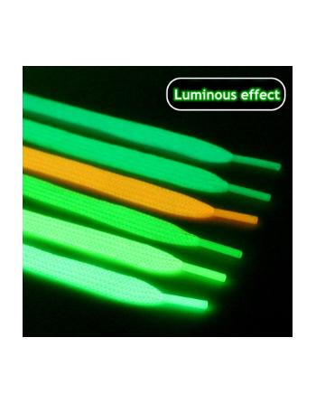 lacets lumineux baskets plates lacets phosphorescent