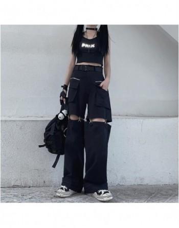 Gothic Black Cargo Pants...