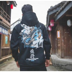 Sweat Carpe-Japan Style Blue