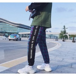 Pantalon Plaid Jogger