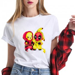 T-Shirt Deadpool and Pikachu